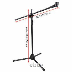 10 Packs Live Stream Microphone Stand with Adjustable Boom Arm Mic Mount Metal