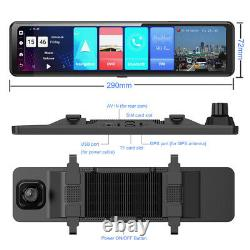 12Touch Screen bundled backup Rearview Mirror smart Android Car DVR dash Camera