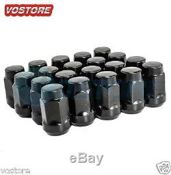 (20) 14x1.5 Black Lug Nuts for Dodge Magnum Charger Chevy Chrysler 300 Wheels