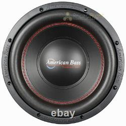2 Pack American Bass 10 Subwoofers Dual 4 Ohm 900 Watts Max Audio Sub XD Series