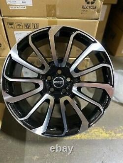 4 New 22 Range Rover Autobiography Wheels Black Machined Land Rover Replica