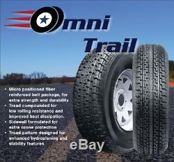 4 New Omni Trail Radial Trailer Tire ST225/75R15 117L LRE 10PLY Rated