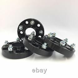 4pc 25MM 1 INCH BLACK HUBCENTRIC Wheel Spacers 5x114.3 64.1mm Fits HONDA ACURA