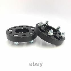 4pc BLACK HUBCENTRIC Wheel Spacers 5x114.3 25MM 1 INCH 60.1MM