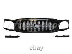 Bundle For 2001-2004 Toyota Tacoma Grille Lower Fillers Paintable 3pcs