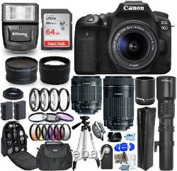 Canon EOS 90D Camera With 18-55mm + 55-250mm + 500mm/1000mm 64GB Top Value Bundle