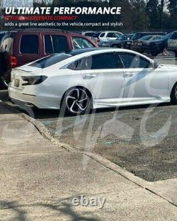 Fit for 18-21 Accord X Sport&Touring Deep Fin Diffuser Glossy Black withLED Brake