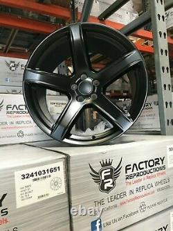 Fits 2 20 11 Rear Hellcat HC2 Style wheels rims Satin Black Challenger Charger