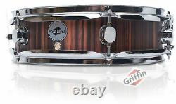 GRIFFIN Piccolo Snare Drum 13 x 3.5 Black Hickory Poplar Wood Shell Percussion