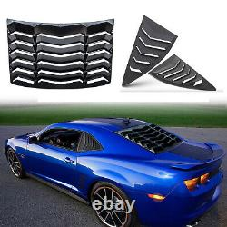 Matte Black Rear & Side Window Louver Sun Shade Cover fit Chevy Camaro 2010-2015