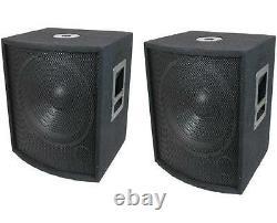 NEW (2) 18 SUBWOOFER Speakers PAIR. Woofer Sub with Box. DJ. PA. BASS. Pro Audio. Sound