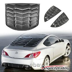 Rear+Side Window Louvers Fit for Hyundai Genesis Coupe 2010-2016 GT Lambo Style