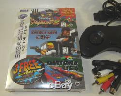 Sega Saturn Console (NTSC) Bundle System 3 NEW Games NEW SAVE BATTERY