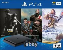 Sony PlayStation 4 PS4 Slim 1TB Console+Controller+3 Games Bundle USWarranty