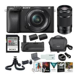 Sony a6400 Mirrorless Digital Camera Bundle with 16-50mm and 55-210mm Lenses