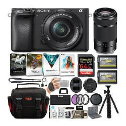 Sony a6400 Mirrorless Digital Camera with 16-50mm and 55-210mm Lens Bundle