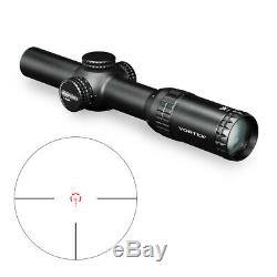Vortex Strike Eagle 1-6x24 Riflescope with 30mm Cantilever Rings and Cap Bundle